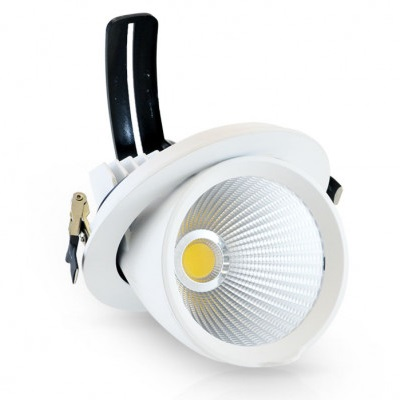 MIIDEX - Spot Escargot Rond Inclinable et orientable avec Alimentation électronique 30W - 3000°K - Réf - 76740