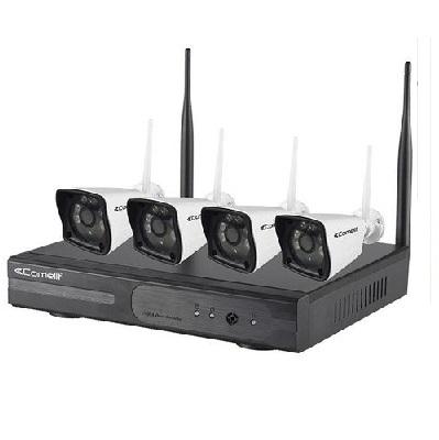 COMELIT - Kit de vidéosurveillance IP 4 Caméras - Réf - WIKIT080A