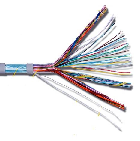 CAE - Câble Téléphonique - 5 paires - AWG 20 CCA Gris Couronne 100m - Réf - TSYT520G1