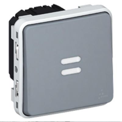 LEGRAND - Interrupteur temporisé lumineux Plexo composable IP55 230V 50Hz ou 60Hz - gris - REF 069504
