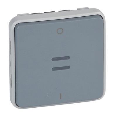 LEGRAND - Interrupteur bipolaire témoin Plexo composable IP55 10AX 250V - gris - Réf - 069532