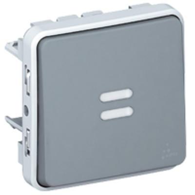 LEGRAND - Interrupteur ou va-et-vient témoin câblage phase distribuée Plexo composable IP55 10AX 250V - gris - REF 069512