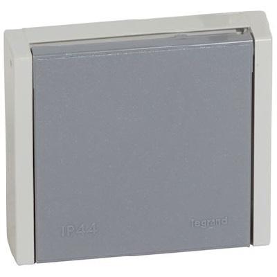 LEGRAND - Prise de courant 3P+T 20A à fixer sur boîte Ø67mm ou cadre saillie Plexo complet IP44 encastré - gris - REF 055706