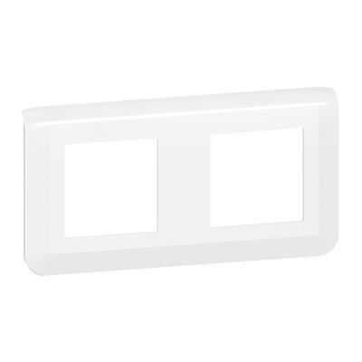 LEGRAND - Plaque de finition horizontale Mosaic pour 2x2 modules blanc - Réf - 078804L