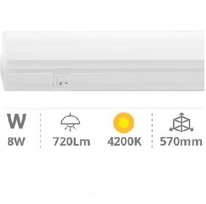 Réglette LED Type T5 - 8W - 570mm 4200K° - Réf - 1705376