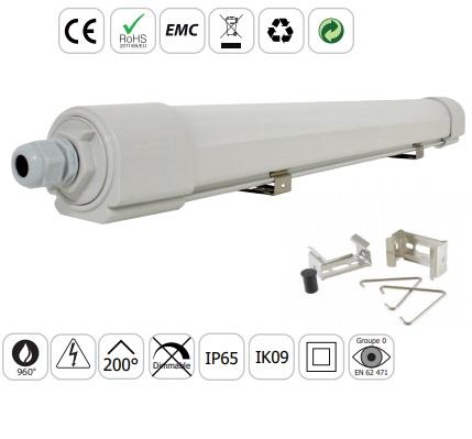MIIDEX - Boitier étanche LED intégrée - 50W - 4000°K - IP65 - 1630mm - Réf - 75871