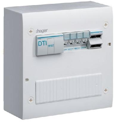 HAGER - Coffret de communication semi-équipé 4xRJ45 Grade 2TV - Réf - TN405