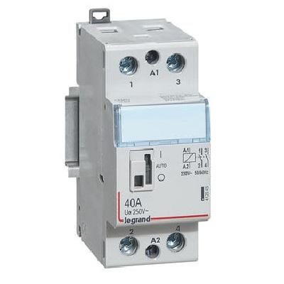 LEGRAND - Contacteur de puissance CX³ bobine 230V~ - 2P 250V~ - 40A - contact 2F - 2 modules - Réf - 412545