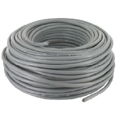 CAE - Câble d\'alimentation souple harmonisé 3G1.5mm² - Gris - Couronne 50m - Réf - HO5VV-F3G1.5G