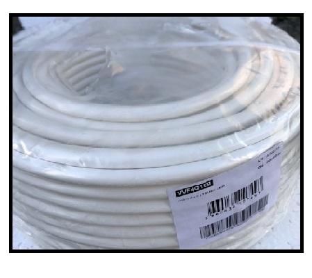 CAE - Câble d\'alimentation souple harmonisé 4G1.5mm² - Blanc - Couronne 50m - Réf - HO5VV-F4G1.5B