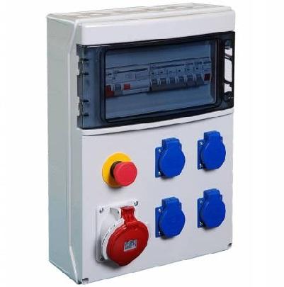 DIGITAL ELECTRIC - Coffret de chantier - 4 PC 2P+T - 1x3P+T - 32A - REF 31224