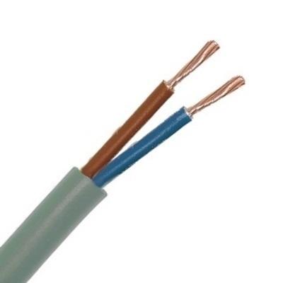 CAE - Câble d\'alimentation souple - 2x1mm² - Gris - Couronne 50m - Réf - HO5VV-F2X1G