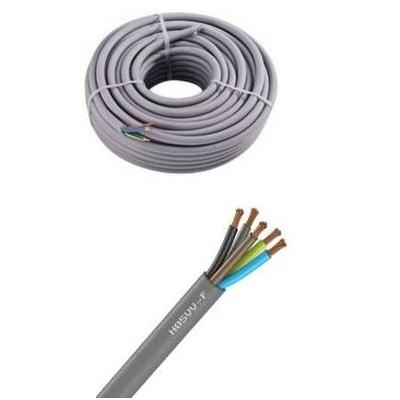 CAE - Câble d\'alimentation souple - H05VV-F 5G0.75mm² - Gris - Couronne 50m - Réf - H05VV-F 5G0.75mm²