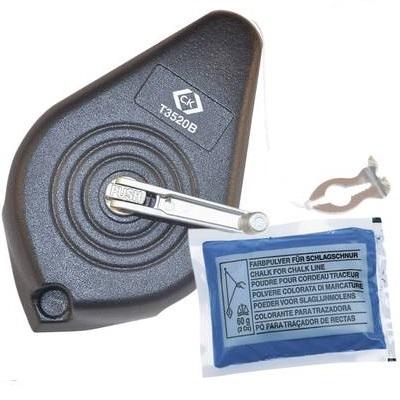 CK - Cordeau Traceur métallique - 30m - 60g de Craie bleue fourni - Réf - T3520B