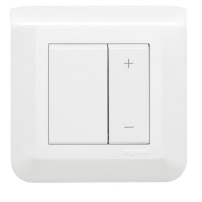 LEGRAND - Interrupteur variateur toutes lampes 2 fils Mosaic 2 modules – complet blanc - Ref - 048870L