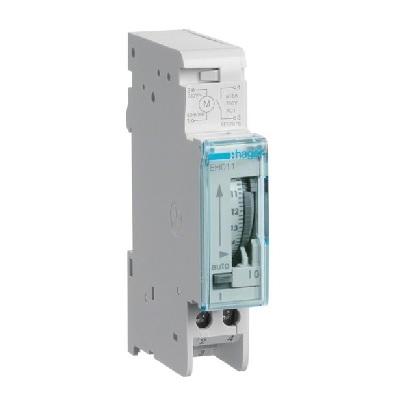 HAGER - Minuterie analogique compact 1 voie sur 24H avec réserve - Réf - EH011