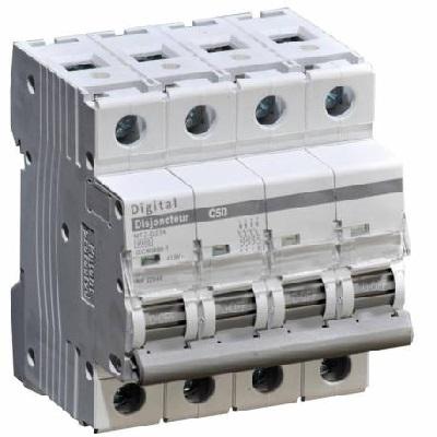 DIGITAL-ELECTRIC - Disjoncteur Tétrapolaire 50A Courbe C - Réf - 02058