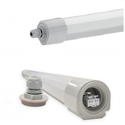 MIIDEX - Boitier Etanche LED Intégrées Traversant - 36W - 4000°K - 1335mm - Réf - 75861