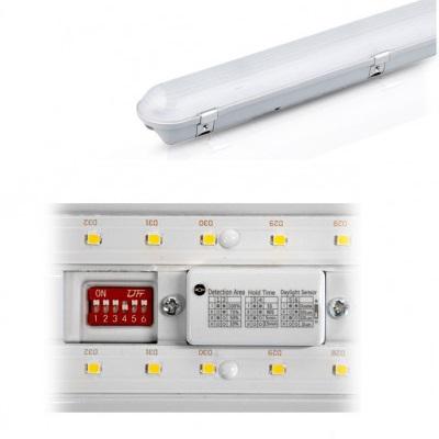 MIIDEX - Boitier Etanche LED Intégrées Traversant + Détecteur 40W - 4000°K - 1200mm - Réf -758802