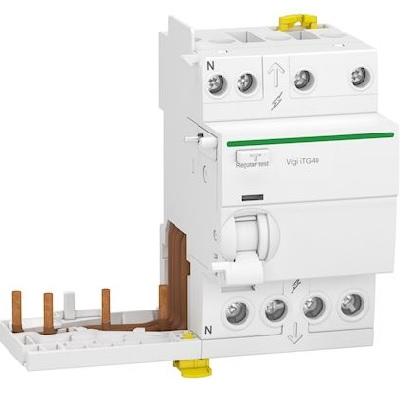 SCHNEIDER ELECTRIC - Acti9 iTG40 - module différentiel Vigi tête de groupe - 3P+N 25A 30mA type AC - Réf - A9Y12725