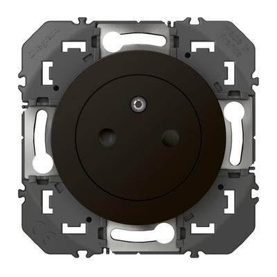 LEGRAND - Prise de courant 2P+T Surface dooxie 16A finition noir - emballage blister - Réf - 095275