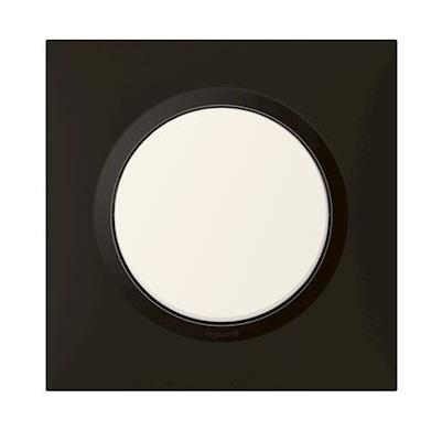 LEGRAND - Plaque carrée dooxie 1 poste finition noir velours - Réf - 600861