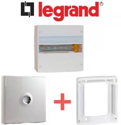 LEGRAND - PACK Coffret + Porte + Réhausse - Coffret 13 modules et 1 rangée