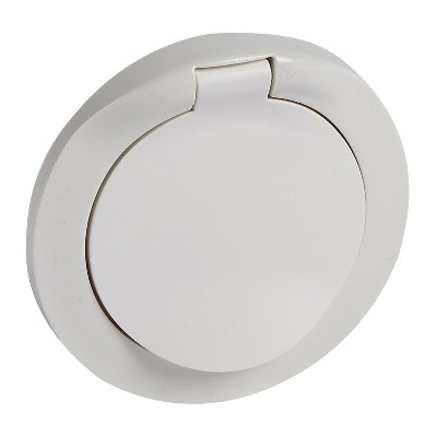 LEGRAND - Enjoliveur à volet Céliane - IP 44 - pour prise 2P+T - blanc - REF 067812