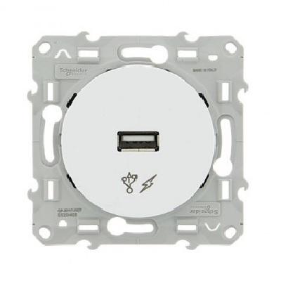 SCHNEIDER ELECTRIC - Odace prise alimentation USB 5V Blanc - REF S520408