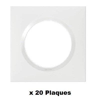 LEGRAND - LOT Dooxie 20 Plaques simples Blanches - Réf - 600801