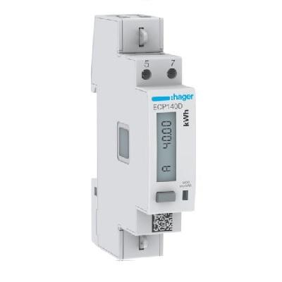 HAGER  - Compteur monophasé direct - 40A - 1 Module  - Ref ECP140D