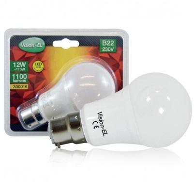 MIIDEX - Ampoule Led B22 Bulb - 12W 1100 lumens - 3000°K - Réf - 739381