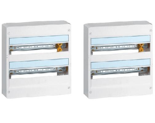 LEGRAND - Lot 2 Coffrets Drivia 18 modules - 2 rangées - Blanc - REF 401222