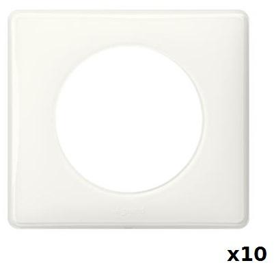 LEGRAND - LOT Céliane - 10 plaques simples Blanches - Réf - 066631