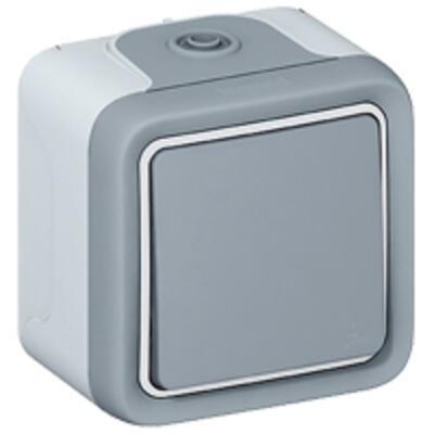 LEGRAND - Va-et-vient Prog Plexo complet saillie gris - 10 AX - REF 069711