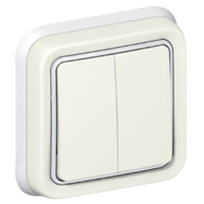 LEGRAND - Double va-et-vient Prog Plexo complet encastré blanc - 10 AX -  Réf - 069855