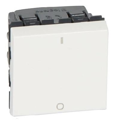 LEGRAND - Interrupteur bipolaire Prog Mosaic - 2 mod - 20 AX - blanc - REF 077050