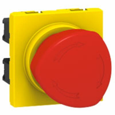 LEGRAND - Poussoir coup de poing arrêt d\'urgence Mosaic 10A 250V~ - Ref 076602