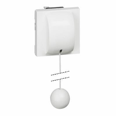 LEGRAND - Interrupteur ou va-et-vient à tirage 10AX 250V~ Mosaic 2 modules - blanc - REF 077014