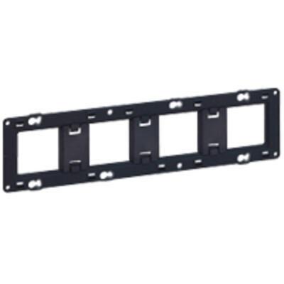 LEGRAND - Support pour fixation à vis Batibox - montage horiz/vert - pour 4 postes - 10 mod - Réf 080254