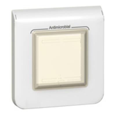 LEGRAND - Plaque antimicrobienne Programme Mosaic - étanche - IP 44 - 2 modules - blanc -REF 078880