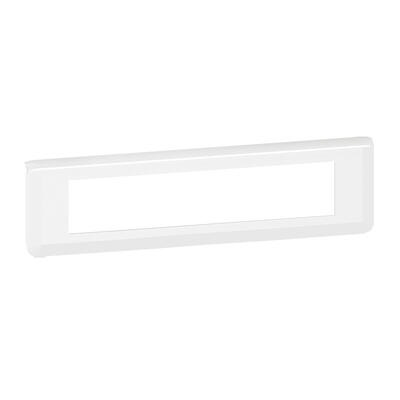 LEGRAND - Plaque Programme Mosaic - 10 modules - horizontal - blanc - REF 078810