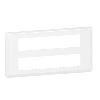 LEGRAND - Plaque Programme Mosaic - 2x10 modules - horizontal - blanc - REF 078828