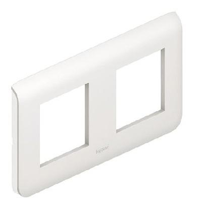 LEGRAND - Plaque Programme Mosaic - 2x2 modules - blanc - REF 078804