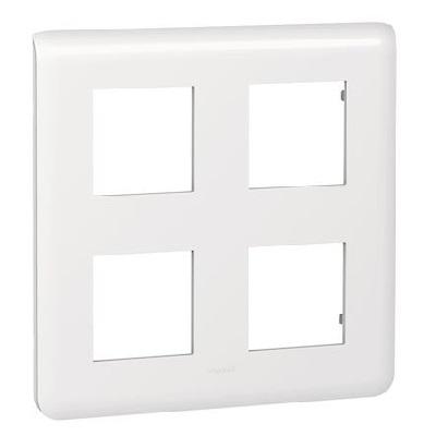 LEGRAND - Plaque Programme Mosaic - 2x2x2 modules - blanc -REF 078838