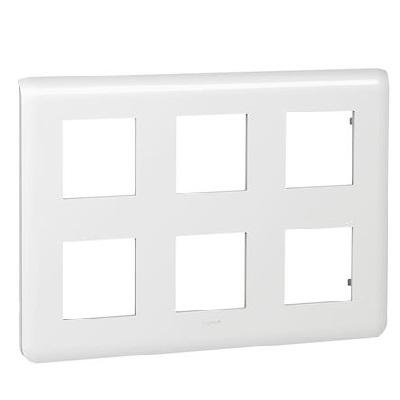 LEGRAND - Plaque Programme Mosaic - 2x3x2 modules - blanc -REF 078832