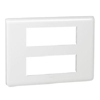 LEGRAND - Plaque Programme Mosaic - 2x6 modules - blanc - REF 078836