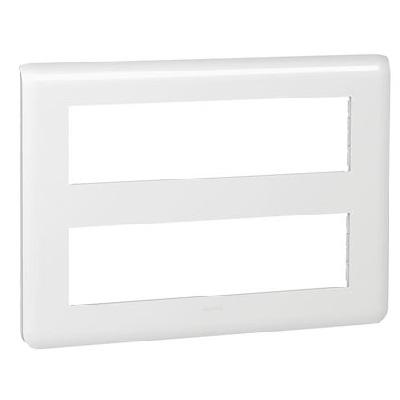 LEGRAND - Plaque Programme Mosaic - 2x8 modules - blanc - REF 078837