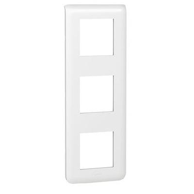LEGRAND - Plaque Programme Mosaic - 3x2 modules - vertical - blanc - REF 078823