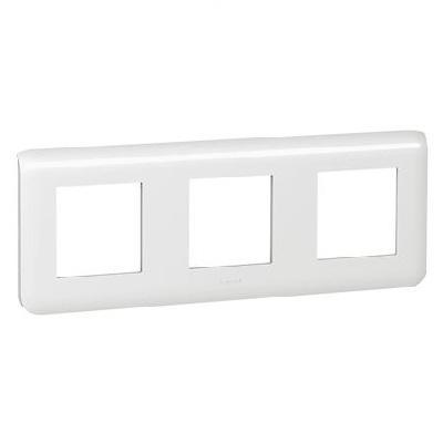LEGRAND - Plaque Programme Mosaic - 3x2 modules - horizontal - blanc - REF 078806